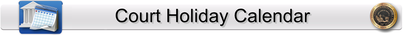 Court Holiday Calendar Page Banner