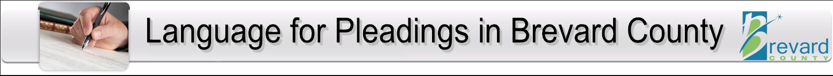 Pleadings In Brevard Banner