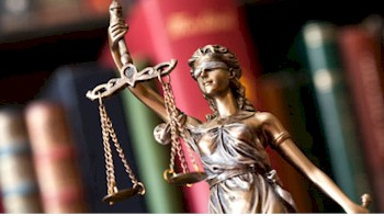 Lady Justice Representing Court Programs.