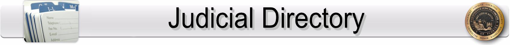 Judicial Directory Banner
