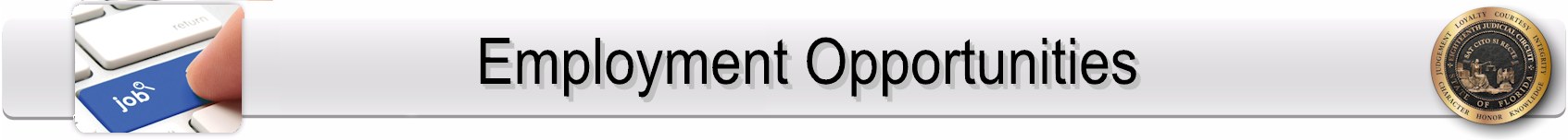 Employment Opportunities Page Banner