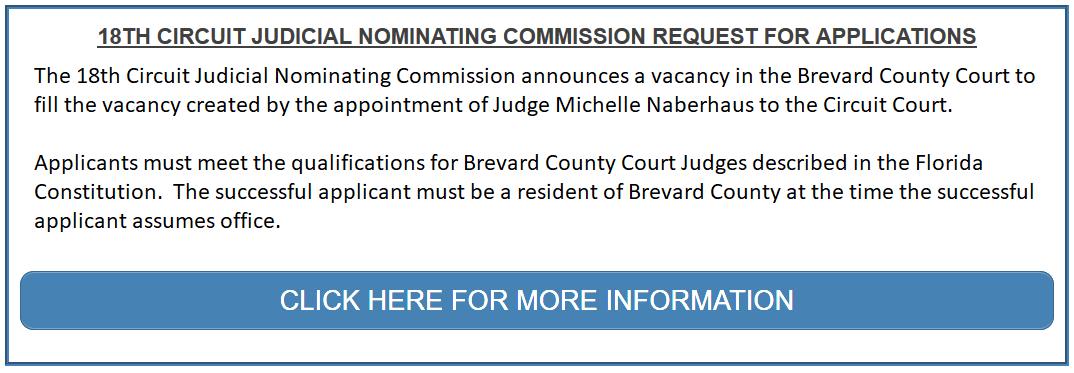 Circuit Judge Vacancy Announcement.